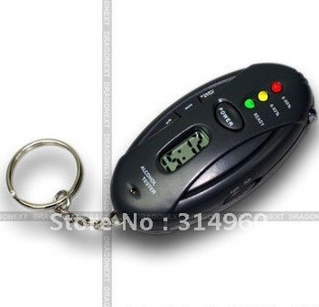 Free Shipping Digital LED ALCOHOL Breath Tester Breathalyser Time New 50pcs/lot