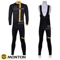 free shipping! 2011 livestrongs team long sleeve cycling jersey and bib pants Kit,bike jersey,cycle long clothes