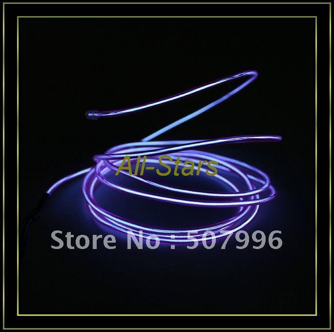 Brand New EL Wire Neon Purple Glow Light + Car Charge Driver - 7.5 Feet Guaranteed 100%(China (Mainland))