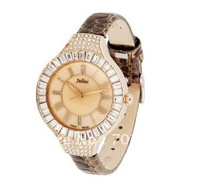 Austrian crystals, lizards grain female wrist watch