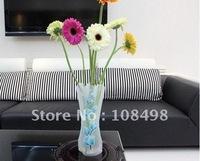 [100pcs]pvc foldable plastic vase(Small ; style random)-Home Decoration ree shipping wholesale!