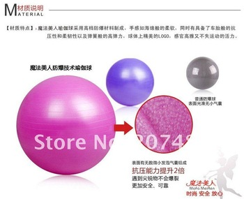 75cm Anti Burst Fitness Workout Balancing Ball Yoga Sports Gym Pilates Yoga Fit Exercise Stretching