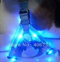 PET  WALKING NIGHT DARK LIGHT UP  BRIGHT FLASHING LED  Fully adjustable dog HARNESS with CE approval