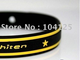 Free shipping 50pcs/lot X30 Titanium bracelet, sports Energy bands, Silicone titanium wristband 8 colours