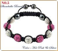 SBL05 Wholesale tresor paris shamballa bracelet strand cz crystal ball disco bead christmas jewelry