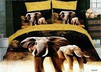 Hot Beautiful 4PC 100% COTTON COMFORTER DUVET DOONA COVER SET QUEEN / KING SIZE bedding set 4pcs elephant