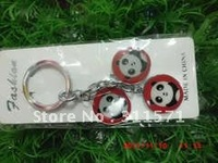 free shipping fashion, lovely animal panda key chain,moblle panda chain
