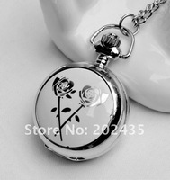 Freeshipping wholesale 20pcs/lot could mix different styles necklace small pocket watches godmat Dia27mm S431