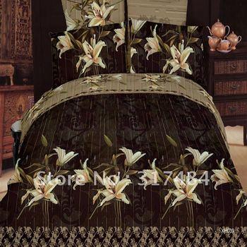 Hot Beautiful 4PC 100% COTTON COMFORTER DUVET DOONA COVER SET QUEEN / KING SIZE bedding set 4pcs oil painting