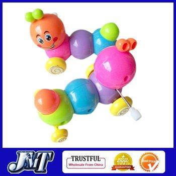 F01964-2 2pcs Clockwork Spring Climbing Carpenterworm Worm Funny Toy , Christmas / Festival / Children / kid Gift +Free Shipping