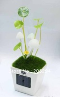 wholesale free shipping,Solar avatar mushroom lamp,Solar light-operated energy-saving Nightlight,Solar LED light