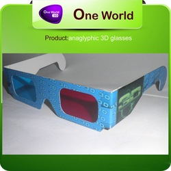 paper 3d glasses 3dglasses paper disposable lens materi alanaglyph 3d-glass paper(China (Mainland))