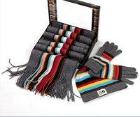 Retail  Designer winter Fashion scarf,gloves hat set  pau-l sm-ith girl scarf,women scarf gloves hat Free shipping 1Pcs/lot