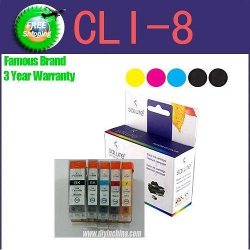 Wholesale 5 colors/set for Canon PGI-5BK/CLI-8BK/CLI-8C,CLI-8M/CLI-8Y ink cartridges for Canon MX850/MP610/IP4200 printer(China (Mainland))