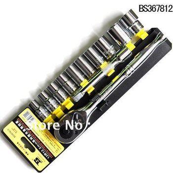 free shipping 12pcs 1/2 Dr.socket wrench set