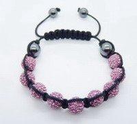 Fashion best selling newest styles Unisex Style Crystal plastic ball 10mm Shambhala Fashion Bracelet CC01