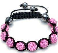 Fashion best selling newest styles Unisex Style Crystal plastic ball 10mm Shambhala Fashion Bracelet CC03