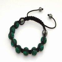 Fashion best selling newest styles Unisex Style Crystal plastic ball 10mm Shambhala Fashion Bracelet CC07