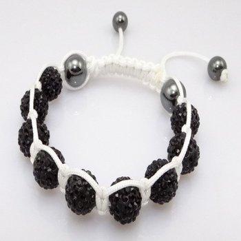 Fashion best selling newest styles Unisex Style Crystal plastic ball 10mm Shambhala Fashion Bracelet CC12