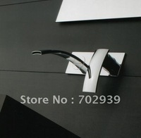 Free shipping  Square Style Wall Mount Bathroom Sink Faucet mixer tap