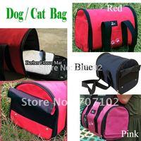 Pet Luggage Carrier Dog Bag Cat Bag Handbag Travel Bag With berber Fleece Mat S M L