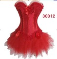 Freeshipping!!! sexy Bridal red Corset compatible with red skirt  have Lace,Lace-up, Underwear,Lingerie Wholesale Retail 30012