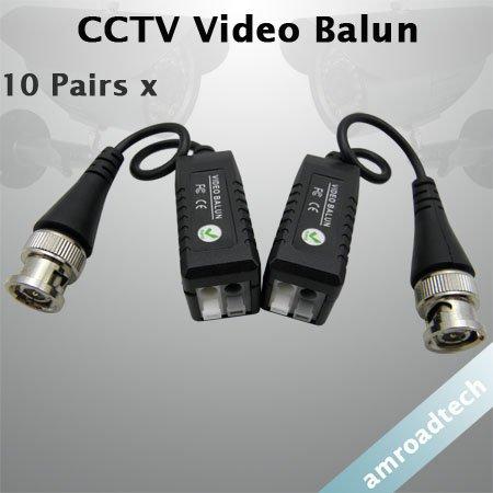 1Pair CCTV Camera BNC UTP CAT5 Video Balun Twistered Pair Transceiver Cable AT-203C(China (Mainland))