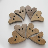 200pcs/lot Chocolate button sweet heart coconut wood carving buttons Apparel accessory&decoration DIY work Free Shipping