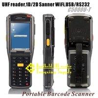 WiFi UHF handheld reader 1D/2D barcode EPC C1, GEN2/ISO18000-6C