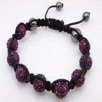 Fashion best selling newest styles Unisex Style Crystal plastic ball 10mm Shambhala Fashion Bracelet CC16