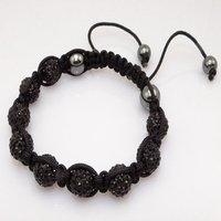 Fashion best selling newest styles Unisex Style Crystal plastic ball 10mm Shambhala Fashion Bracelet CC19