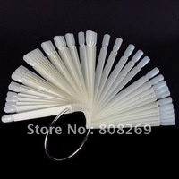 Freeshipping 48 tips Fan-Shaped Nail Art Display Clear Chart for Polish Gel Display Tool Wholesales
