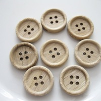 150pcs/lot 18mm round log color wooden buttons Apparel accessory&decoration DIY work Free Shipping