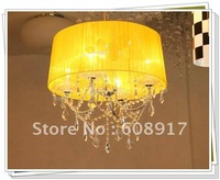 2012New 18 Colors Lampshade,Silver Body Parts,Crystal Chandelier,Pendant Lights,YSL-CC0007
