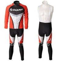 2010 Giant Best Sell High Quality Winter Fleece/Thermal Cycling Jersey+ Bib Pants Set/Cycling Wear/Bike Jersey