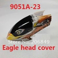 Free shipping 9051A 9051B 9051A-23 Eagle head cover canopy set rc spare parts for Double hore Eagle 9051A 9051B