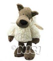 NICI Lovely Wolf In White Sheepskin  Medium Cotton Plash Doll Toy Gift 25 cm