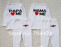 I love papa mama boys suits ,2 in 1 Baby Clothing sets ,100% cotton thermal tight underwear ,baby jumpsuit , SZ 1-5Y, #400