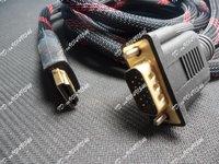 HDMI Gold Male to VGA HD-15 Male Cable  5m