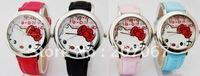 free shipping 1pcs Hello kitty Girls Women Ladies Lady Quartz Wrist Watches A037
