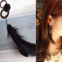 Free Shipping 30pcs/lot Classical Fashion Feather Plume Pendant Drop Earring, Earbob, Eardrop,  Pendants