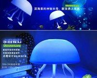 2pcs/lot USB and power source Jellyfish model LED lamp/small night lamp/ lamp free shipping