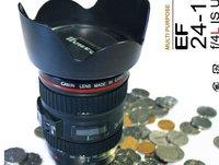 3pcs/Individual camera lens saving bank / piggy bank free shipping