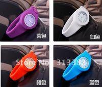 Silicone BUTTON WATCH , Bracelet  slap watch Watch free shipping