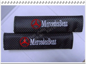 Free shipping 100pairs Car Shoulder Pad Truck Seat Belt Cover for MercedesBenz carbon shoulder pad 1pair=2pcs