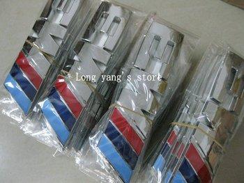 Wholesale  50pcs/lot  M3 for BMW Car Badge CAR EMBLEM Car Decoration with Glue sticker free shipping