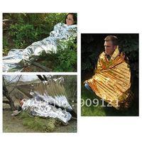 Compact Lightweight Emergency Blanket Aluminized Windproof Waterproof Body Wrap Survival Sheet for Outdoor