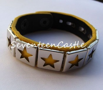 fashion punk gothic kera nana rock visual bracelet wristband