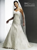-2012 Sexy Organza lace Wedding Dresses Chapel Train Bridal Gown HS001 Great Promotion