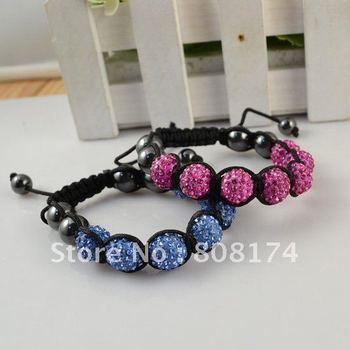Great Crystal Magnetite Shamballa Bracelets Fashion Charm bangle Free shipping Shop Gift Color Mix B081